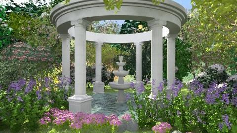Springtime II - Garden  - by Baustin