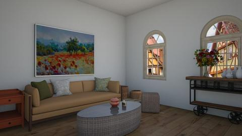 Modern Cottage - Rustic - Living room  - by Siraademented1309