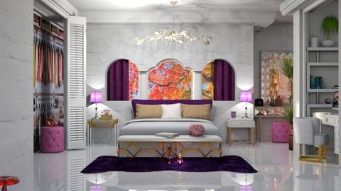 rosa e roxo - Bedroom  - by soralobo
