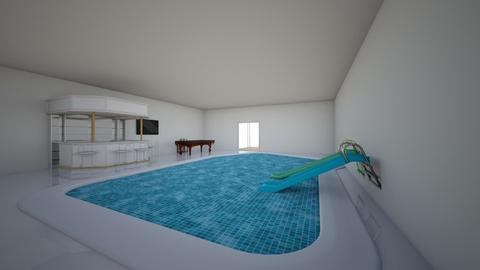 cool indoor pool - by blackpink_fan8150