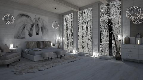 WINTER IN THE ATTIC - Feminine - Bedroom  - by RS Designs