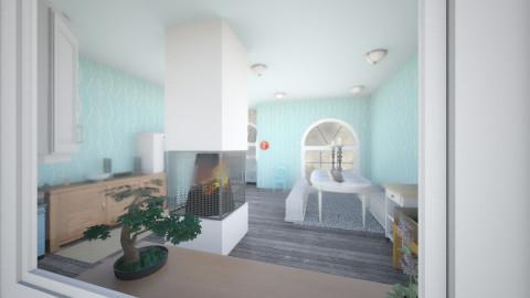 Cyan Kitchen - Eclectic - Kitchen  - by magpieonthewindowsill