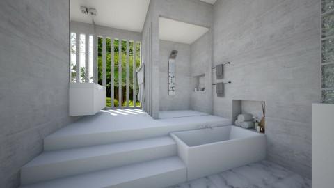 Grey Bathroom - Modern - Bathroom  - by StienAerts