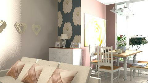 Rosey lIVING aREA - Classic - Living room  - by decorj