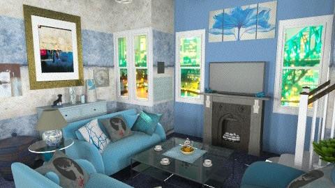 azul - Classic - Living room  - by bluevioletspoprock