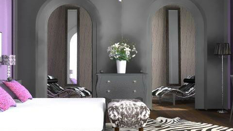 stylish bedroom - Glamour - Bedroom - by yasemin04