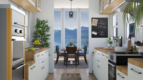 Breakfast with a View - Modern - Kitchen  - by nabilacandra