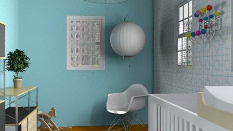 Mod Baby's Room - Retro - Kids room  - by hshugrue