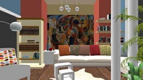 Colorful Beach - Modern - Living room - by Timea Matray