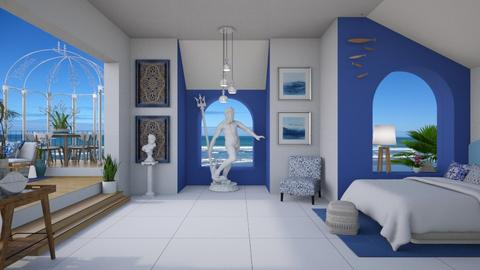 Greek bedroom - Bedroom  - by Nicky West