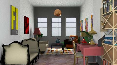 Emmas livingroom2 - Retro - Living room  - by nikigoofy