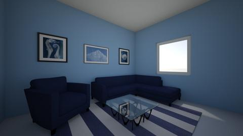 color monochromatic  - Living room  - by amiehall