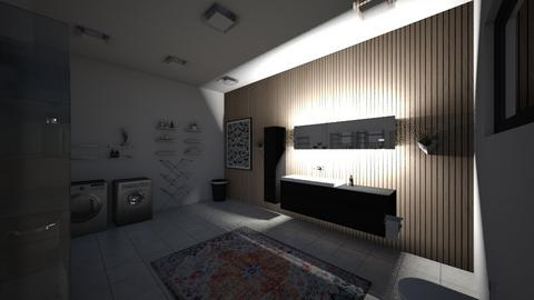 laundry room of apartment - by eWrighT36