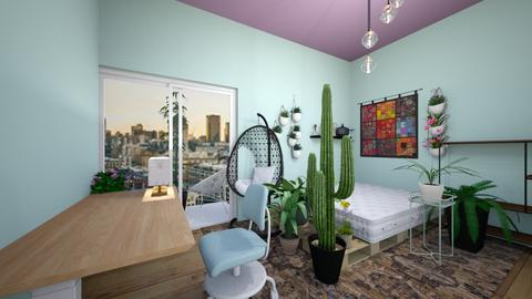 urban jungle bedroom - Glamour - Bedroom  - by kiwimelon711