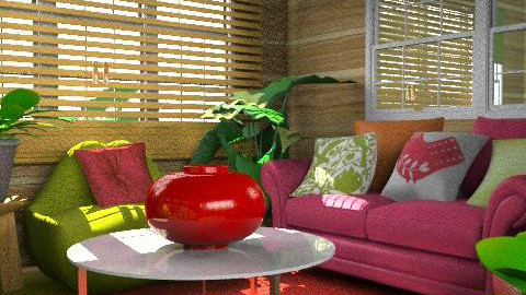 red and green - Eclectic - Living room  - by chania
