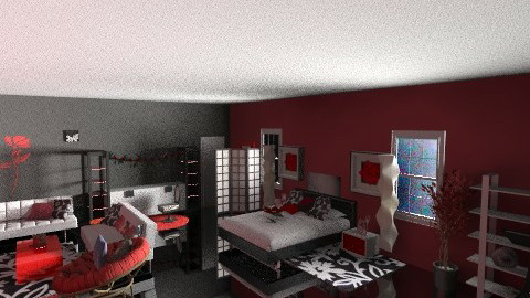 red and black - Eclectic - Bedroom - by Lizette Najera