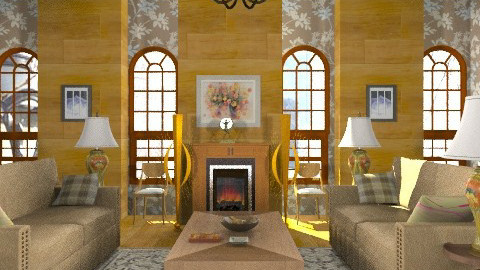 1920's - Classic - Living room  - by Azmi_Ar