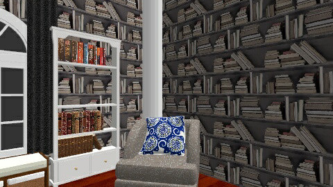 Mom Library - Rustic - by tharphilliard