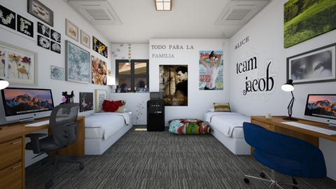 Butterfly Dorm Room - Bedroom  - by SammyJPili