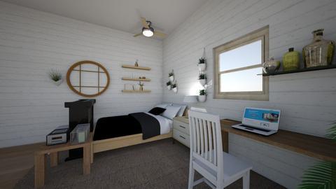 Cool Retro Bedroom - Bedroom  - by maliagonzales_