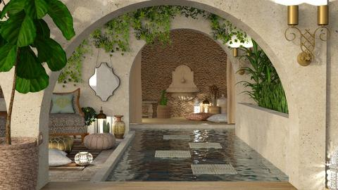 Moroccan Courtyard - by intdeson