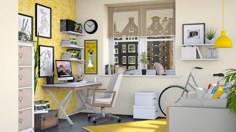 Yellow home office - Office  - by Lizzy0715