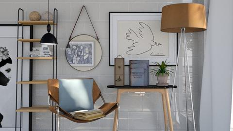 Orange and Blue - Living room  - by martillaga