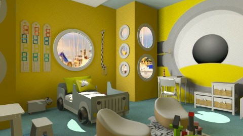 one eyed - Kids room  - by wafaabdi
