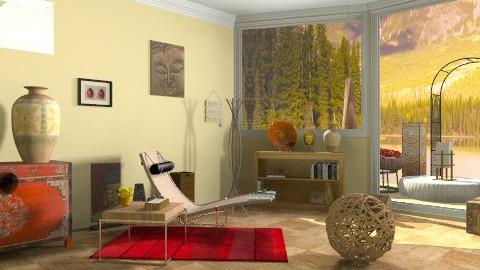 buddah - Rustic - Living room  - by annabeth