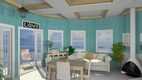 Next to the ocean - Rustic - Living room  - by creativegirl14