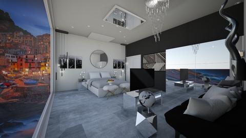 Black n white - Bedroom  - by rea sabs