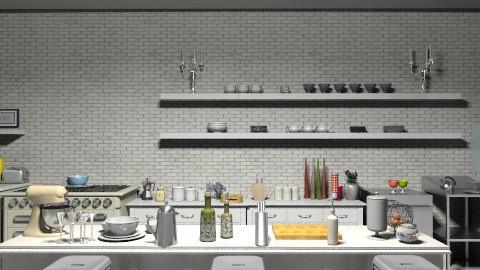 Industrial Retro Kitchen - Retro - Kitchen - by camilla_saurus