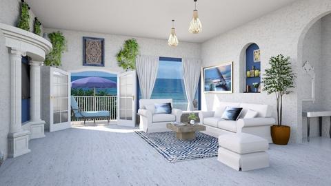 Modern Greek Livingroom - Living room  - by Tzed Design