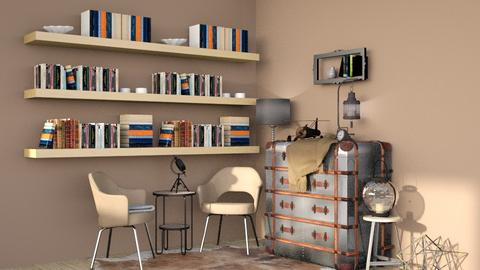 Industrial Corner - Retro - Living room - by Isaacarchitect