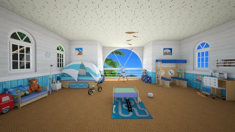 summerhouse - Modern - Kids room  - by carina68
