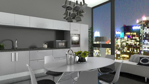 nightdine - Modern - Kitchen  - by jackiefruit