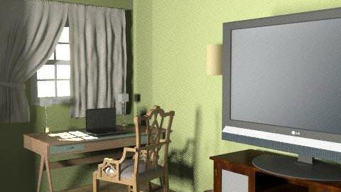 desk tv - Country - Office  - by akashareikiana