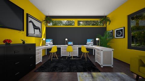 Black And Yellow Office - Office  - by SammyJPili