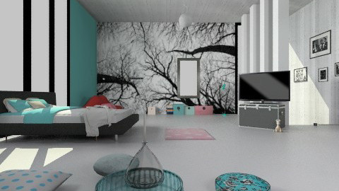Urban apartament - Retro - Bedroom - by Natalia15