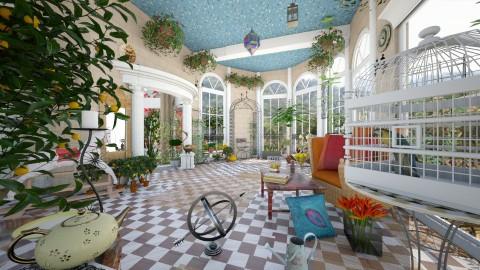 orange garden6b - Classic - Garden  - by katmills98