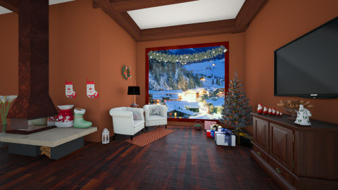 Its Christmas Time   - Rustic - Living room - by Federica_G1993