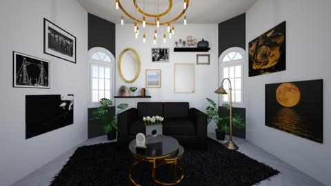 Black and gold - Living room  - by Maja Rygalo