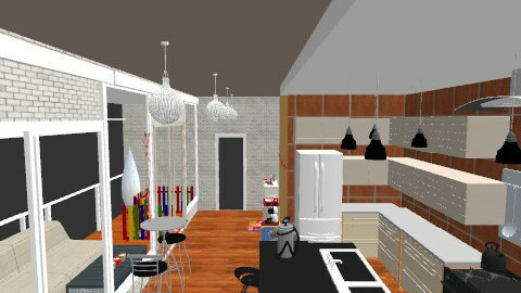 family eatting - Eclectic - Kitchen  - by Mulligan Maria