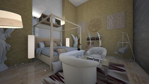 Dr No Room - Modern - Bedroom  - by haileymilby