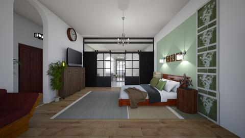 Sage Green - Bedroom  - by bluedolphin12