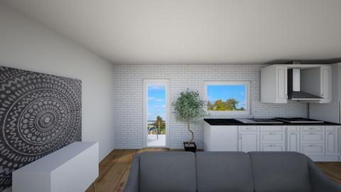 Z widokiem z okna - Living room  - by gabrielasiemiaszko
