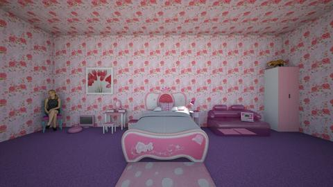 typical girls room - Kids room  - by lex faye