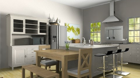 Family Kitchen and Breakfast Area - Classic - Kitchen  - by coco_pps