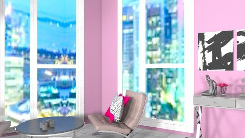 Cityscape Apartment - Glamour - Living room  - by Allie03102
