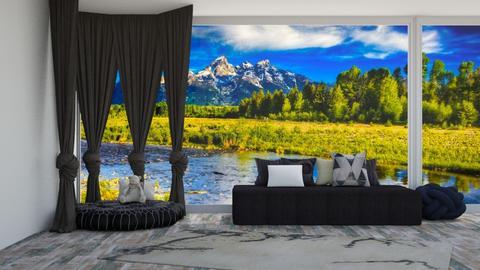 Grey - Living room  - by Nantha